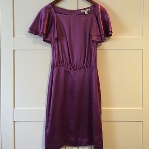 Banana Republic Flutter sleeve silk dress