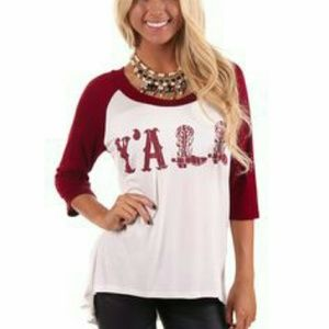 Tops - Y'all t-shirt from Lime Lush boutique