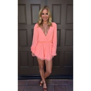 Dainty Hooligan Dresses - Orange playsuit