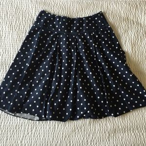 New York & Company Dresses & Skirts - New York & Company Navy Polk Dot Skirt