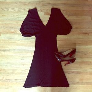  SALE  Sexy black sweater dress