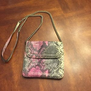 Banana Republic pink snakeskin bag