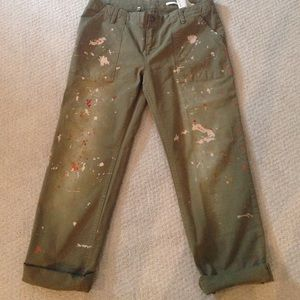 Zara paint splattered jeans, 26(fits like 29)