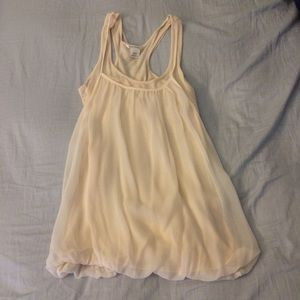 New Club Monaco silky peach pink top szXS