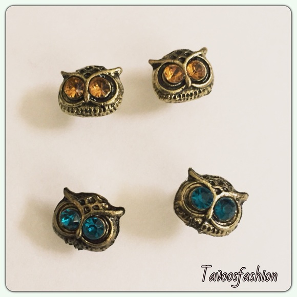 vintage blue owl earrings os from tavoosfashion s closet