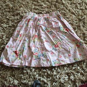 Circle floral skirt