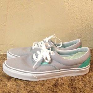 Vans Shoes | Mint Green And Grey Vans