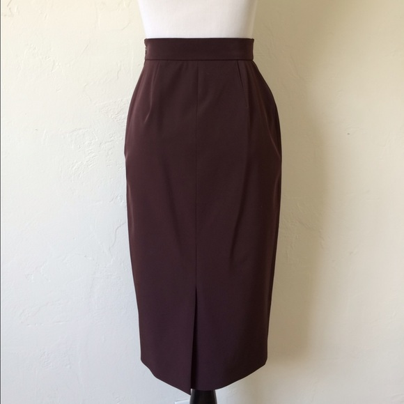 92% off Prada Dresses & Skirts - Prada Wine Colored Pencil Skirt ...