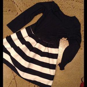 Black and White stripe dress.