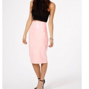 63 missguided dresses skirts pink pvc skirt from