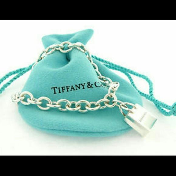 c40e0ca41 Tiffany & Co. Jewelry | Tiffany Shopping Bag Charm Bracelet | Poshmark