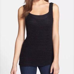 Halogen Tops - NWT✨Nordstrom Halogen crochet sweater tank