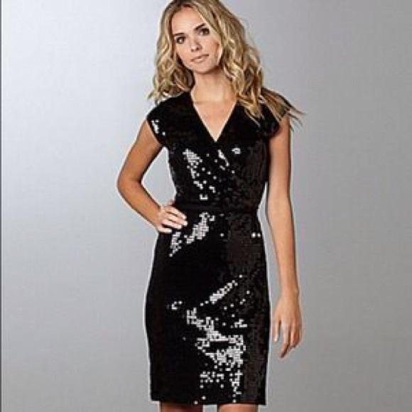 9a53f7e6 Gorgeous Michael Kors Black Sequin Wrap Dress!! M_554956212599fe06af001cdf