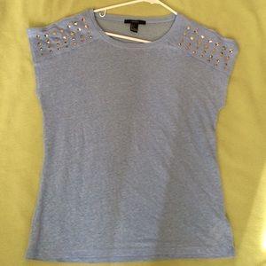 Forever21 light blue studded T-shirt