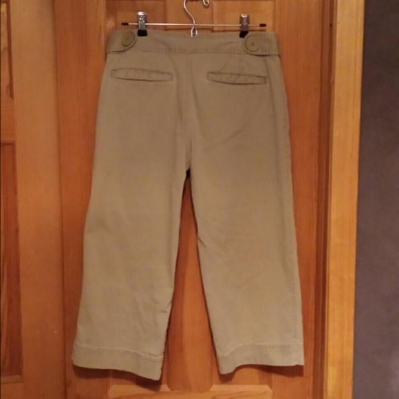 Cool Sanctuary Clothing Dark Navy Blue Khaki Capri Pants Sz 25 26  EBay