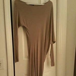 Draped taupe BCBG Dress