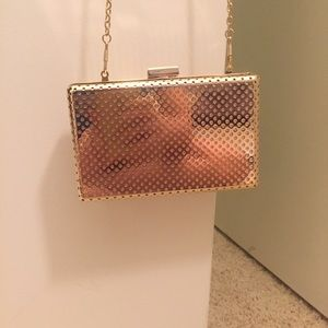 Handbags - Gold Clutch
