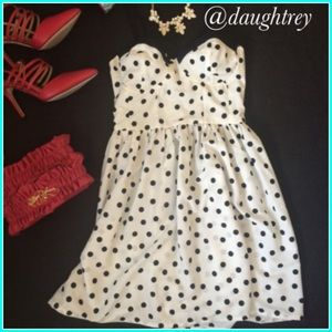 Polka Dot Skater Dress HP desireebeth 5.30.15