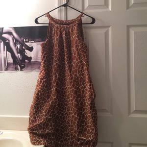 Giraffe Patterned Dress