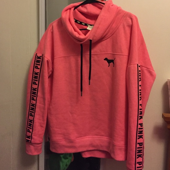 38% off PINK Victoria's Secret Sweaters - VS PINK cowl neck hoodie ...