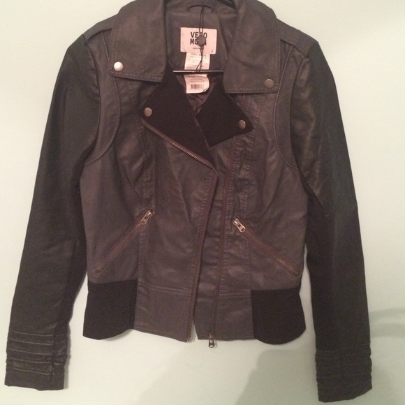60 off vero moda jackets blazers leather bomber. Black Bedroom Furniture Sets. Home Design Ideas