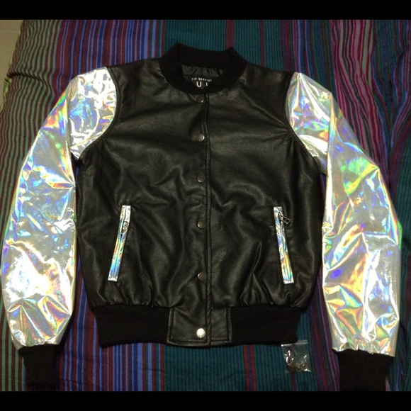 6b45a818a CULT by Lip Service Holographic Bomber Jacket