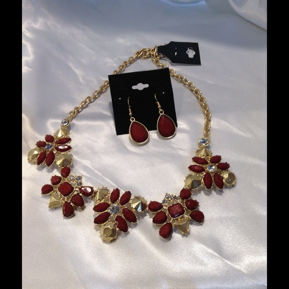 29 off jewelry fall colored rust on gold necklace set for Fall into color jewelry walmart