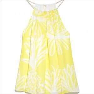 Lilly for Target Pineapple Print Halter Top