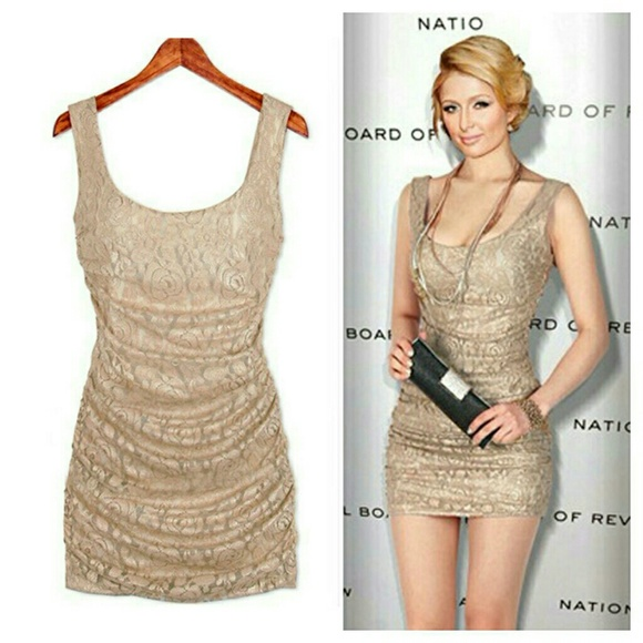 low cost exclusive deals buy sale Dresses | Sale Today Only Sexy Floral Lace Mini Dress Tan | Poshmark