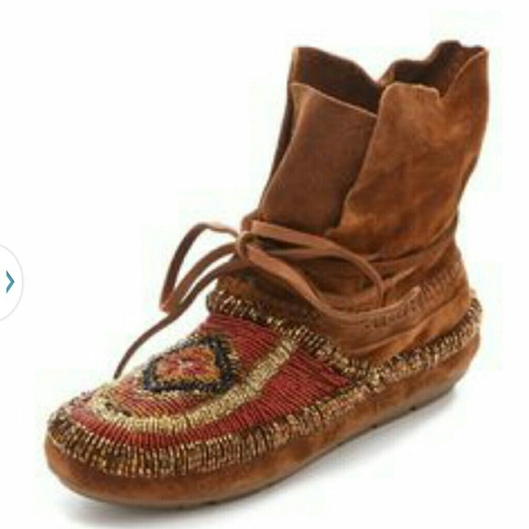 House of Harlow 1960 Schuhes     House Of Harlow Beaded Moccasin Stiefel fff36b