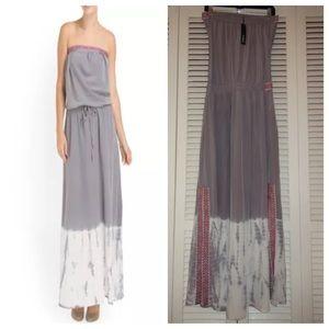 gypsy 05 panel tie silk maxi dress