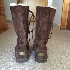 4a2cd7ca9ec Rare Ugg Australia Tall Whitley Lace-Up Boots 😍