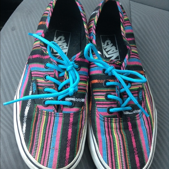 Colorful Striped Vans Womens