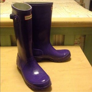 Purple hunter rain boots