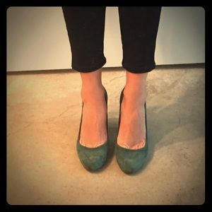Madewell suede heels - size 7