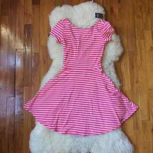 Abercrombie & Fitch Dresses & Skirts - Abercrombie Pink Stripe Nautical Skater Dress