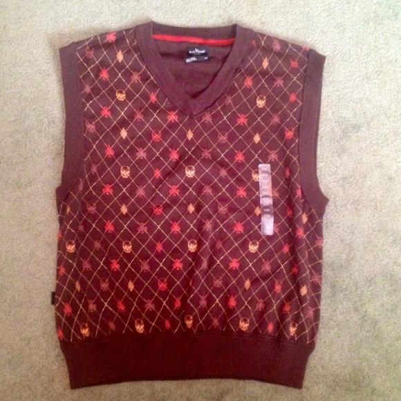 90% off marc ecko Other - Mens Marc Ecko Cut & Sew Sweater Vest ...
