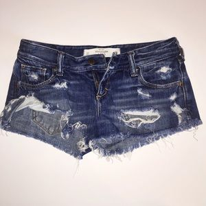 Abercrombie & Fitch destroyed denim shorts