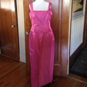 Hot pink formal long dress