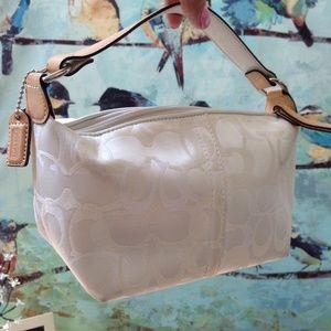 Coach Handbags - White Coach purse