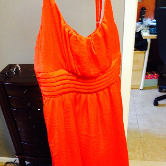 h m Bright Orange Dress