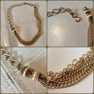 Vintage Multi-Strand Gold Chain Necklace