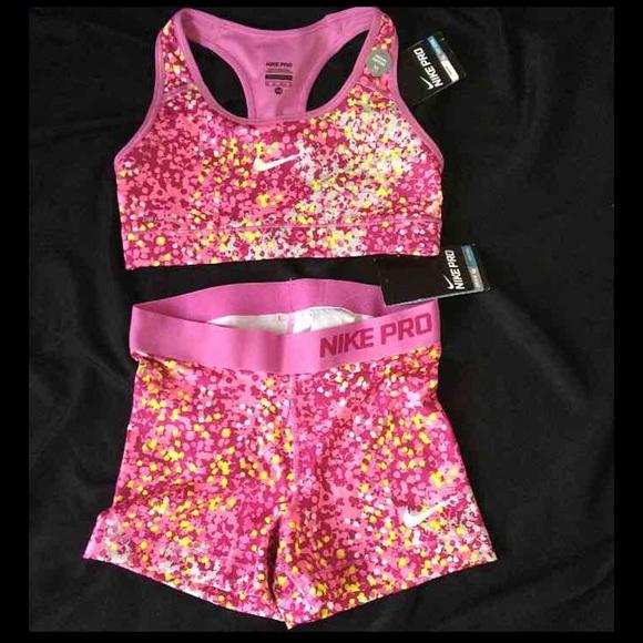 b313c265d1 Nike pro dri-fit sports bra shorts set