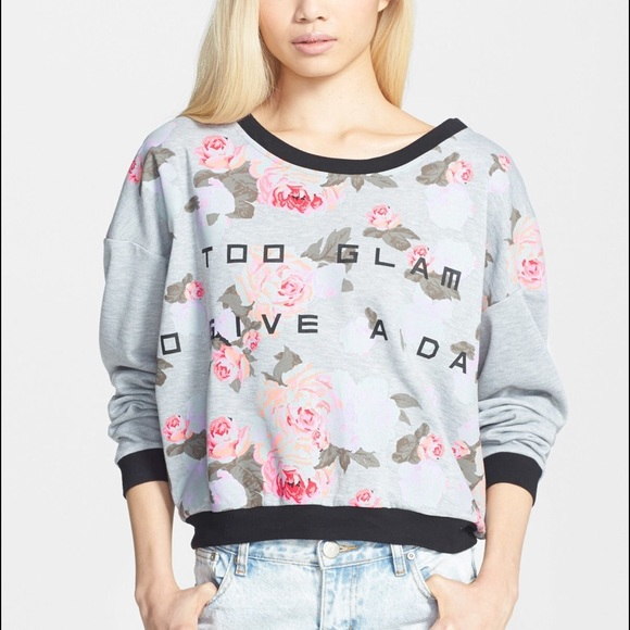 Minkpink Sweaters Nwt Too Glam To Give A Damn Sweater Poshmark