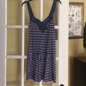 Free People navy striped beach dress M
