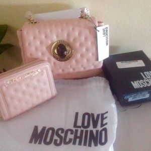 Authentic Moschino crossbody and wallet set