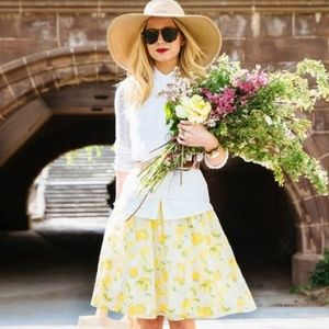 AMAZING Ann Taylor Lemon Print Dress