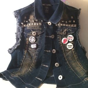 Hand decorated/Studded Vest