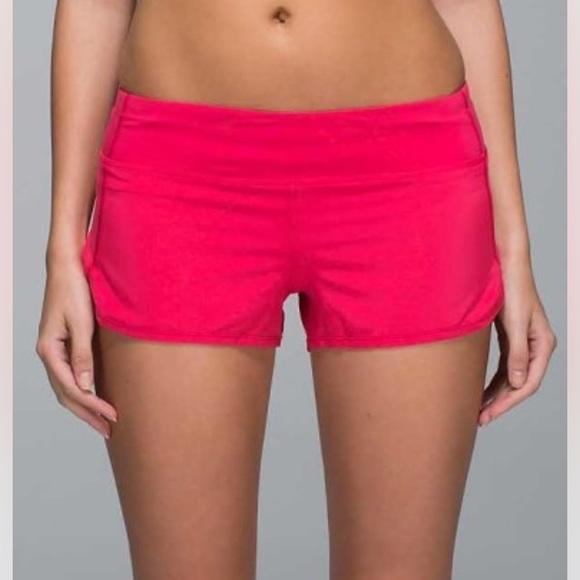 Lululemon Athletica Shorts Hot Pink Speed Poshmark