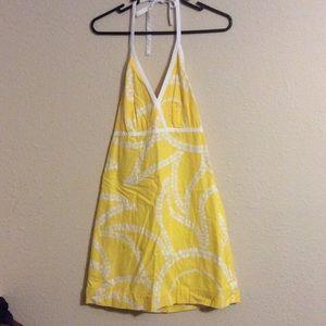 Lilly Pulitzer Yellow Halter Sun dress Sz 0